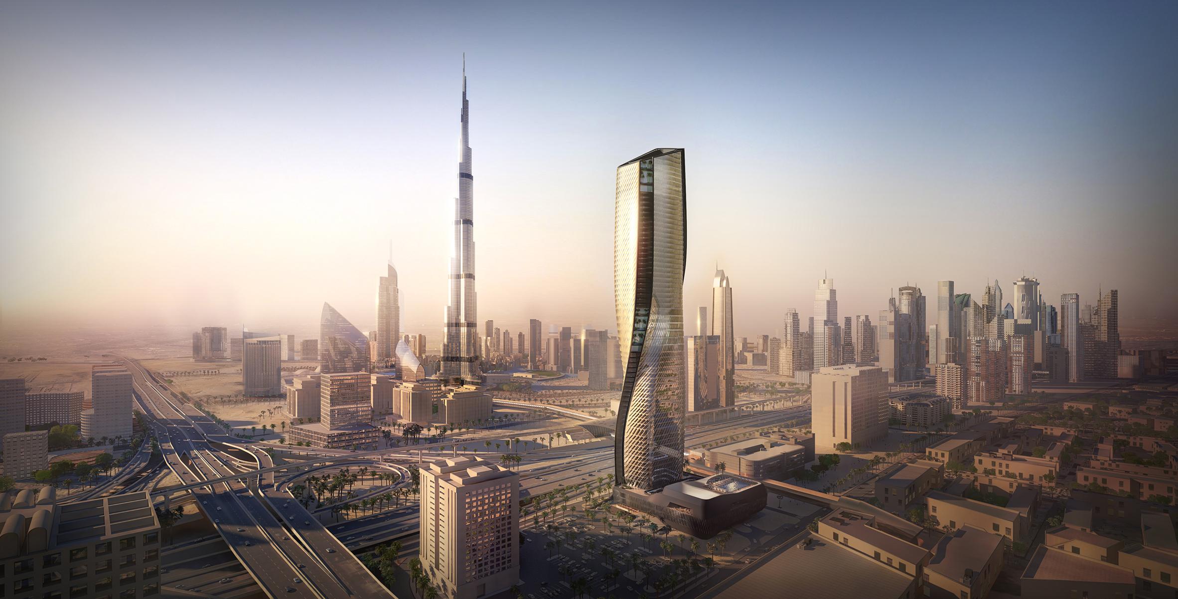 "UNStudio set to build Dubai tower with ""world's tallest ceramic facade"""