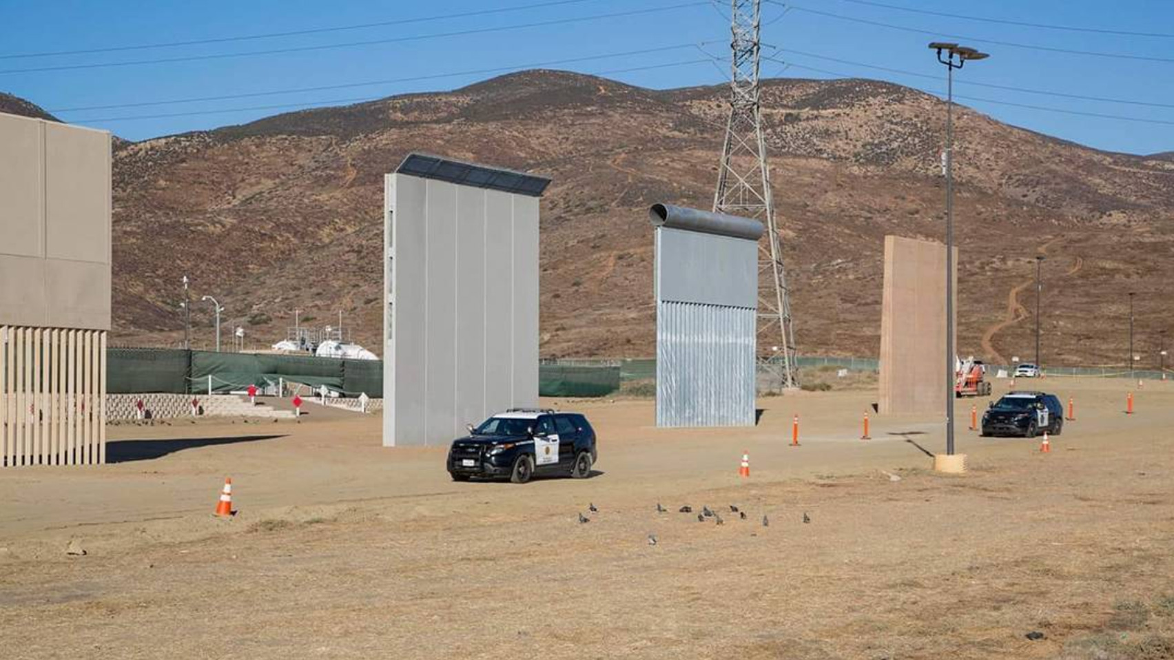 US-Mexico border wall prototypes