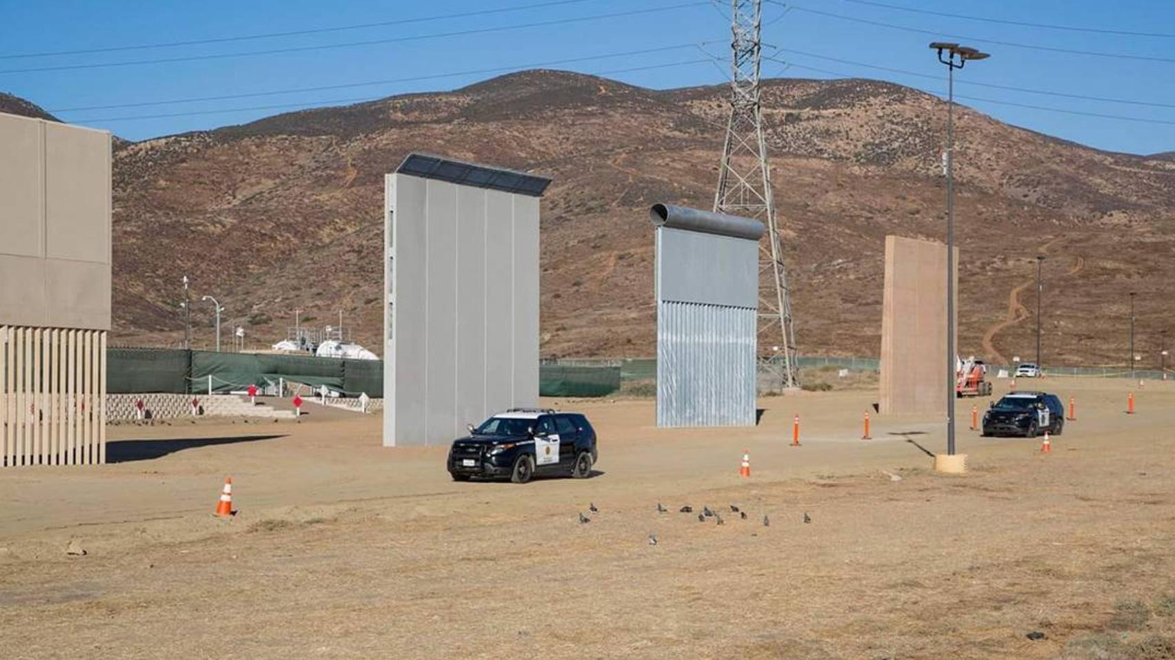 US-Mexico border wall prototypes