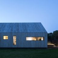 "Magnus Ström models gabled annex for Hampshire home on ""rustic boutique hotel"""
