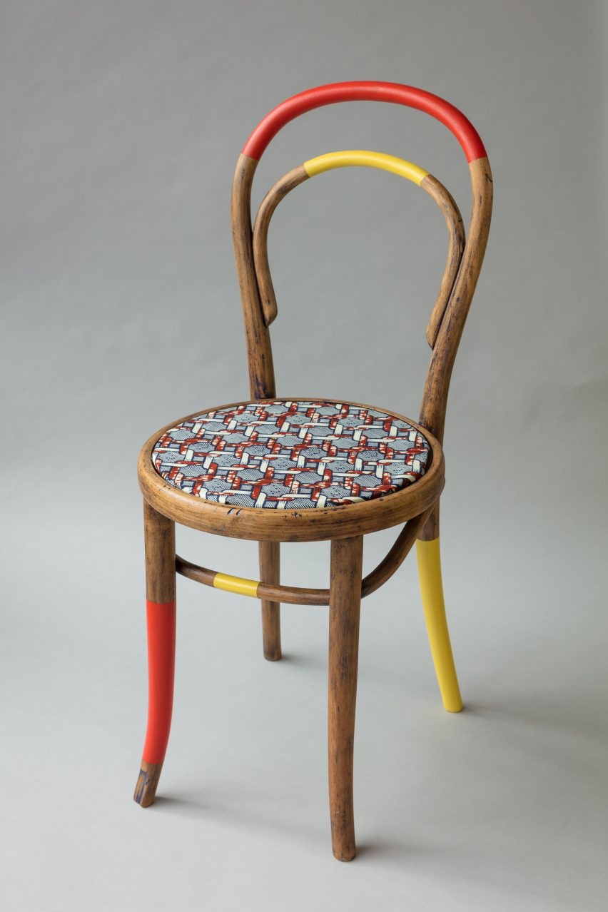 yinka ilori teams up with recovering addicts to create colourful chairs