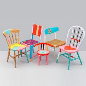 Perfect Yinka Ilori teams up with recovering addicts to create colourful chairs