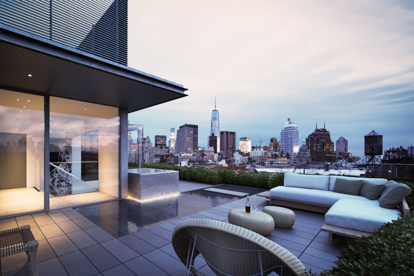 Duplex penthouse and terraces top Tadao Ando\'s 152 Elizabeth Street