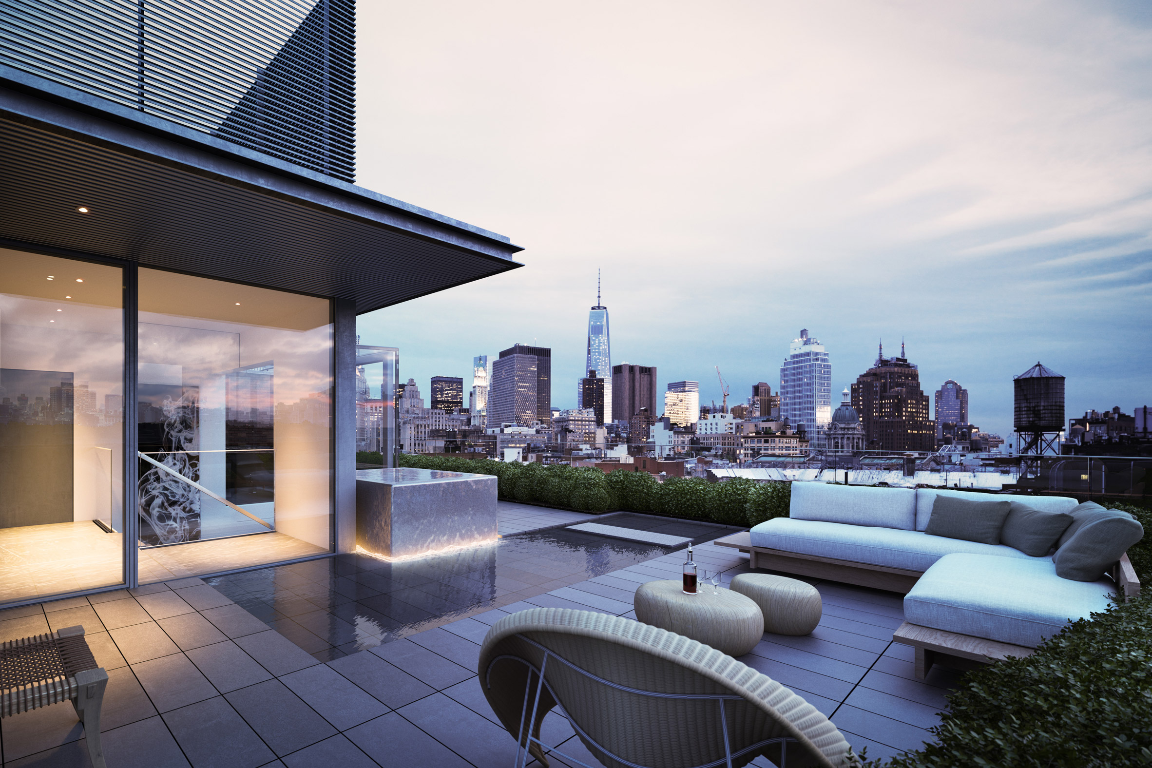 Duplex penthouse with expansive roof terraces tops Tadao Ando's 152 Elizabeth Street
