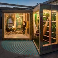 "Bureau V's MINI Living Urban Cabin aims to ""start a conversation about immigration"""