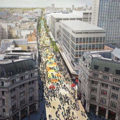 Oxford Street Pedestrianised