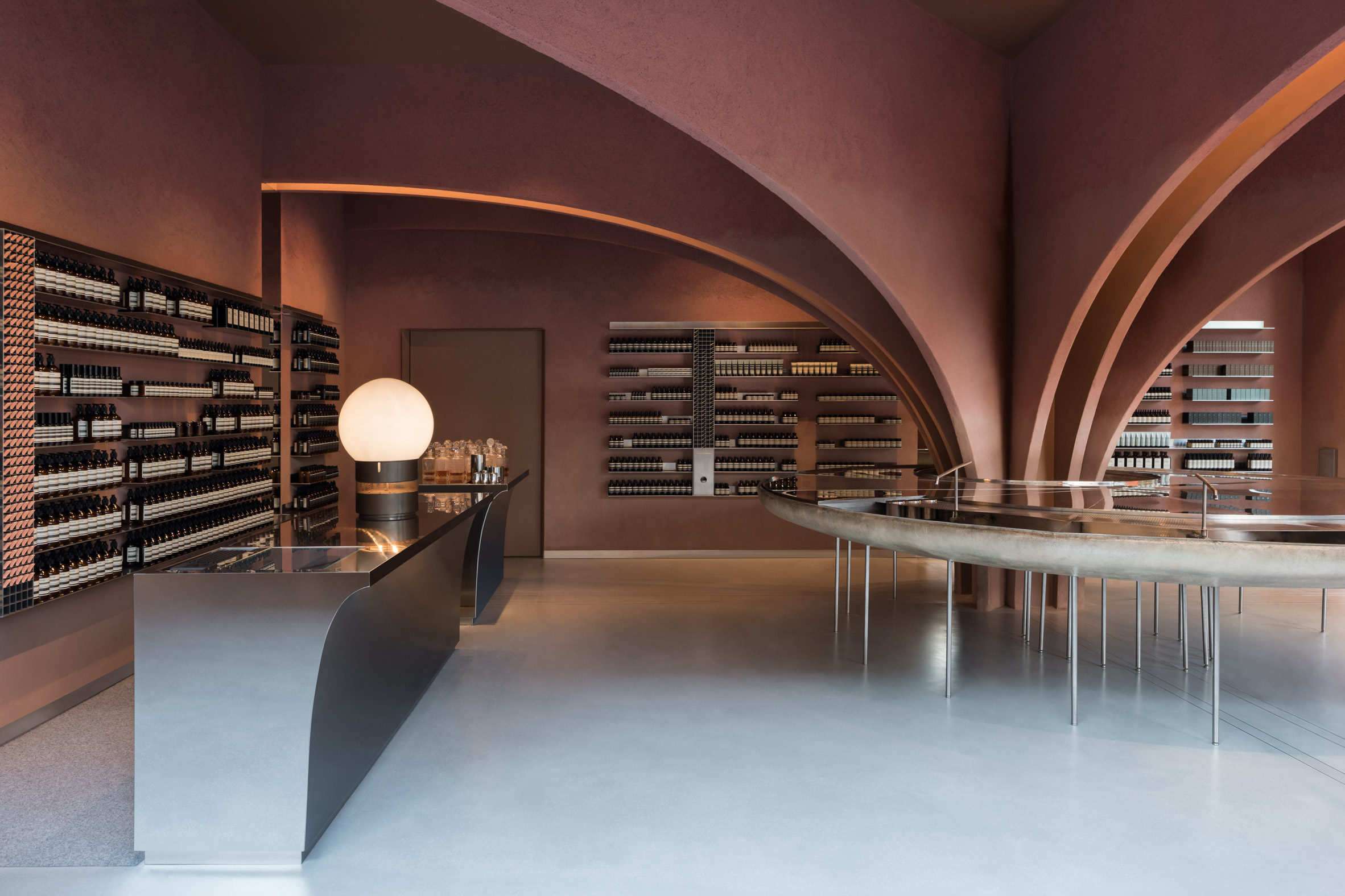 "Snøhetta channels Oscar Niemeyer for ""futuristic"" Aesop store in London's Chelsea"