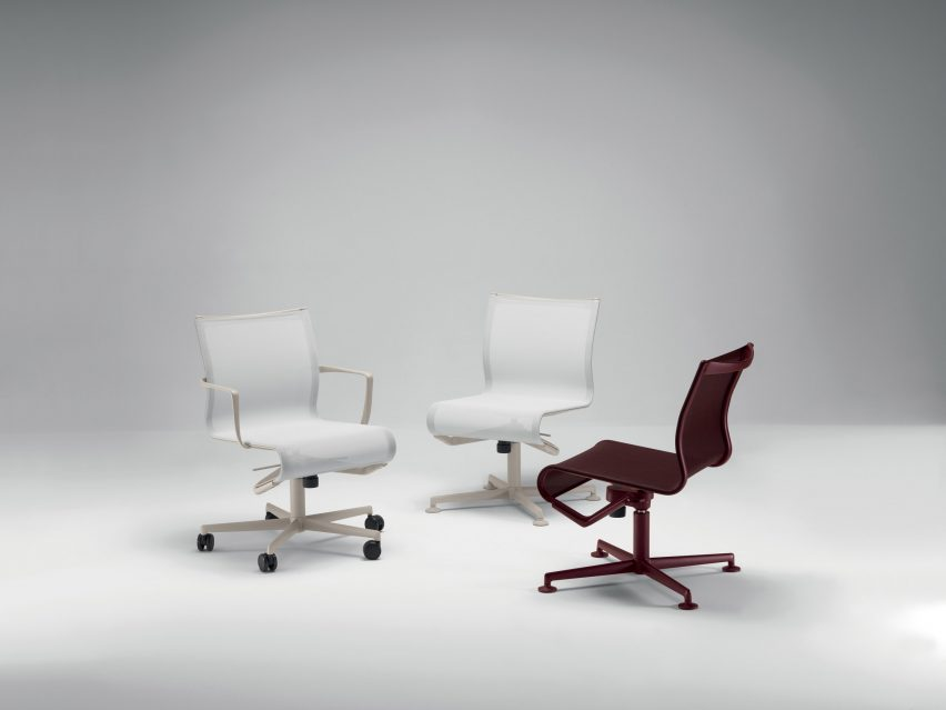 Alberto Meda reengineers Frame office chairs to be more comfortable