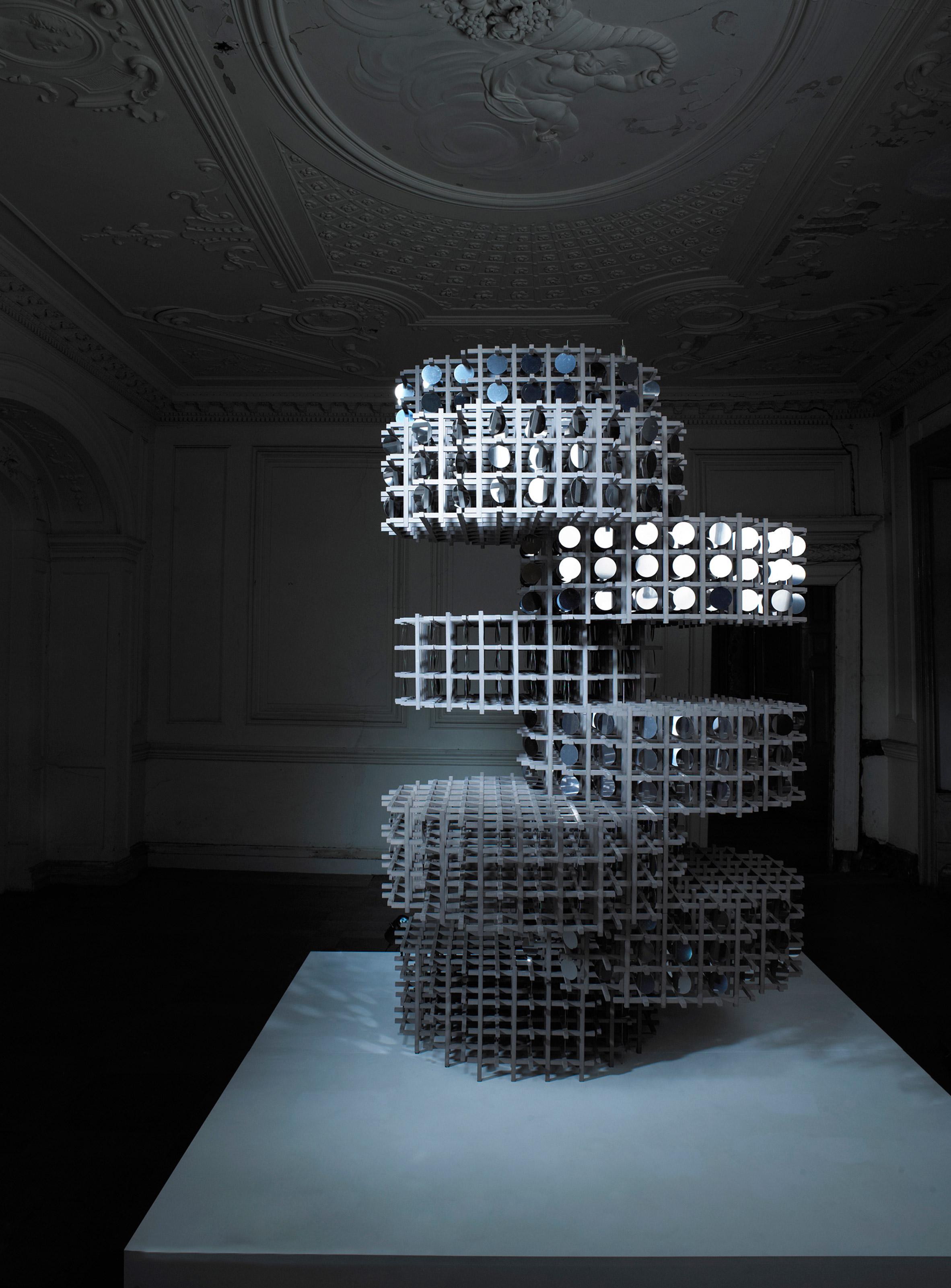 "Giles Miller creates light-reflecting sculpture from 2,000 ""pennies"""