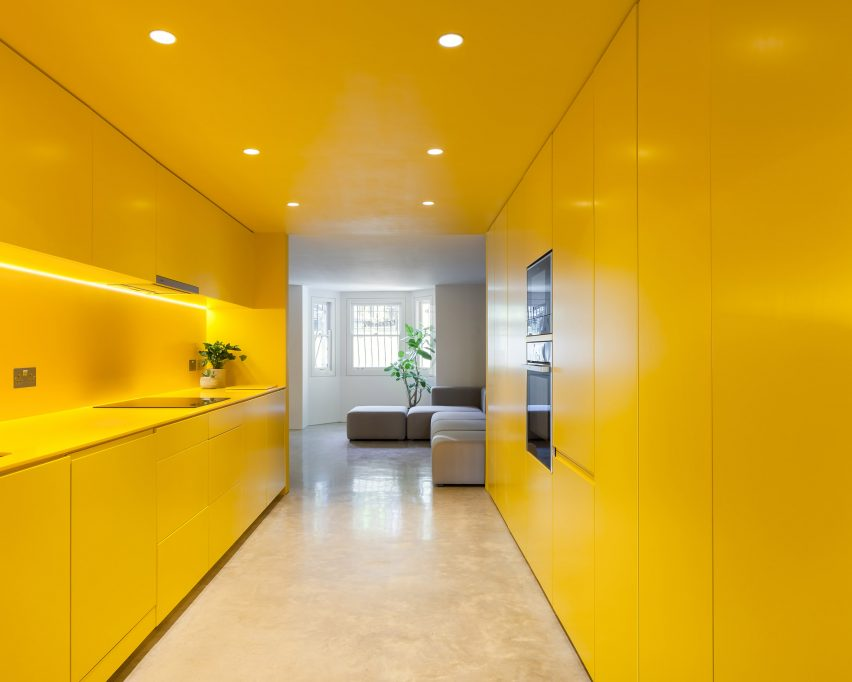 Yellow Kitchen Brightens Basement Of North London Home