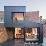 Natalie Dionne extends Montreal residence using offset black boxes