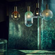 Bomma showcases glass-blowing techniques used to create its sculptural lighting pendants