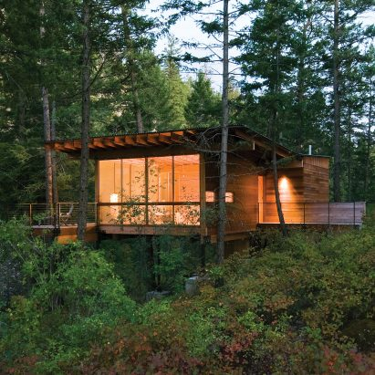 Cabin on Flathead Lake by Andersson-Wise