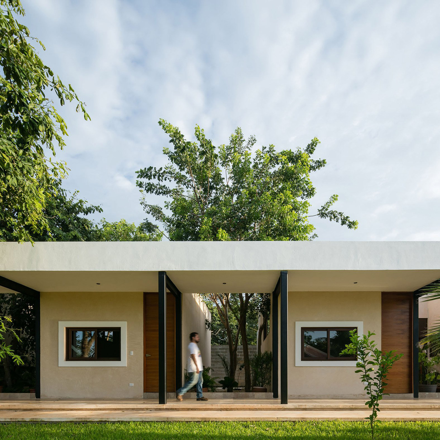House design photos - Steel Colonnades Create Sheltered Outdoor Spaces At Mexican Hacienda