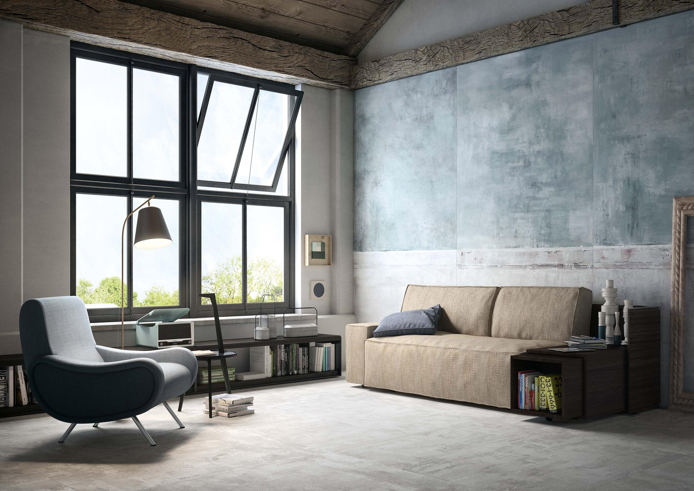Studio Zanellato/Bortotto design wall panels that create the illusion of age for CEDIT