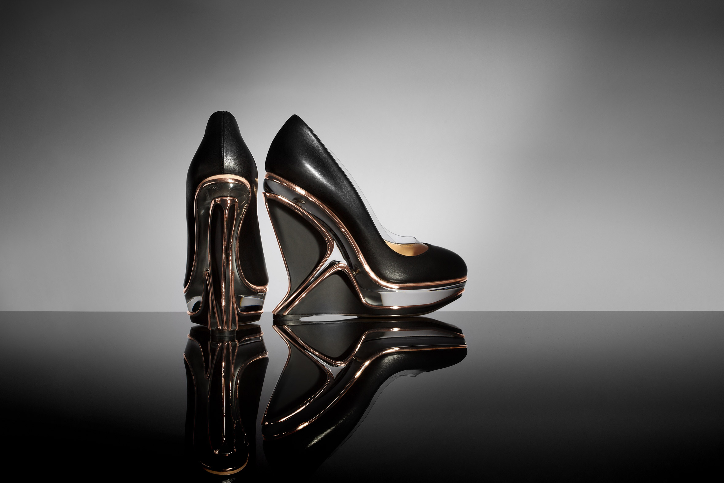 Charlotte Olympia launches fashion accessories designed in collaboration with Zaha Hadid