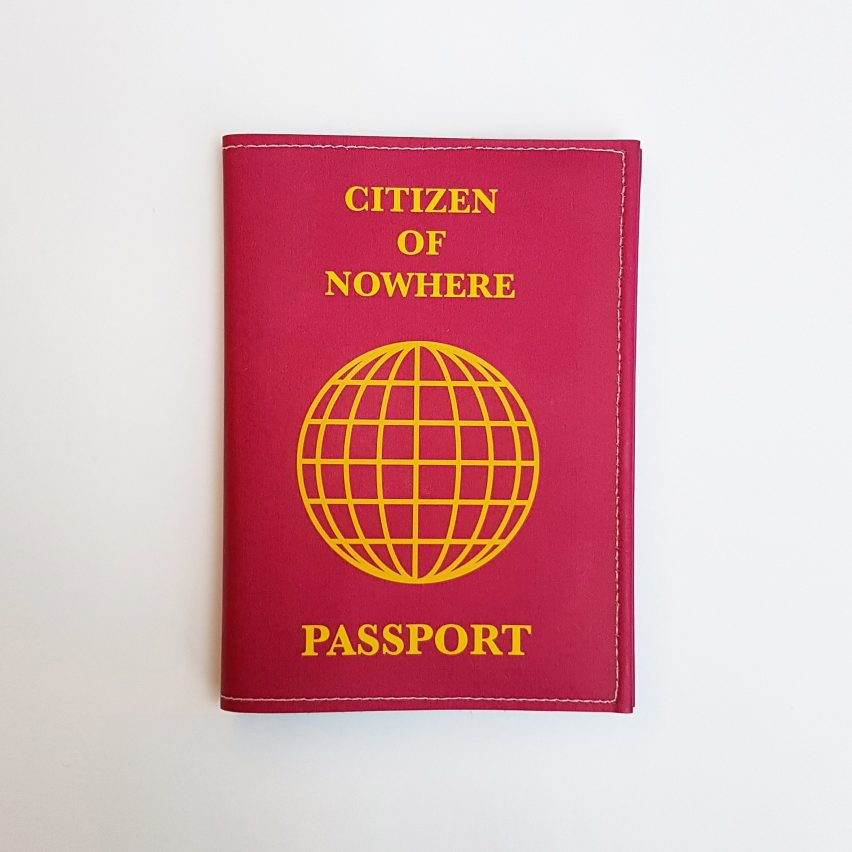 Citizen of nowhere passport design by Sam Jacob