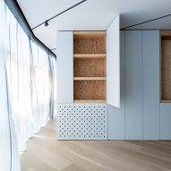 """Cabinets of curiosities"" define rooms in art collector's apartment by MOS"
