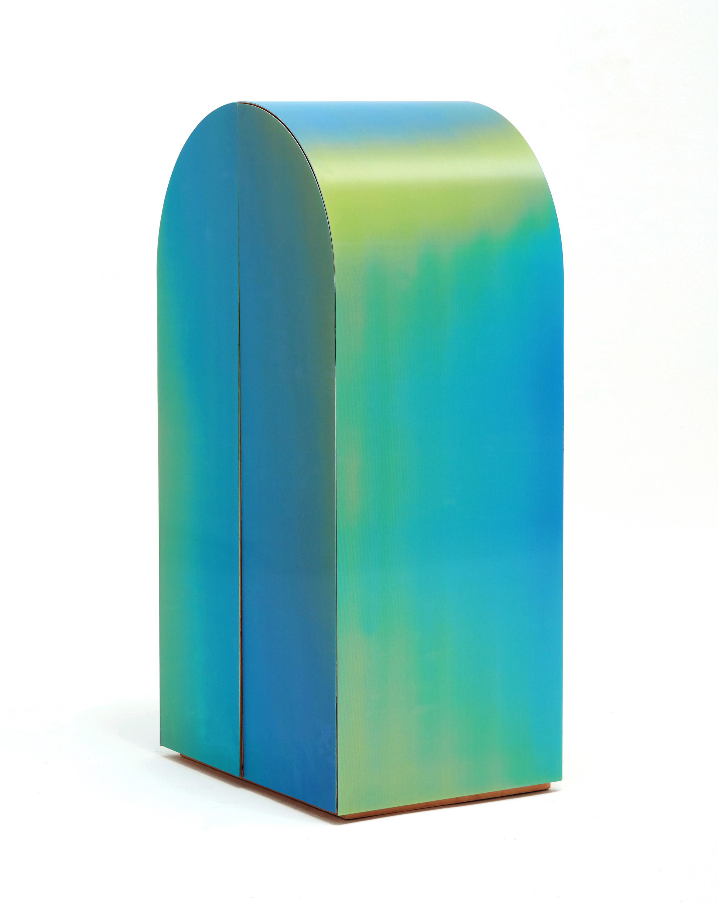 Studio Orijeen's furniture uses lenticular surfaces to