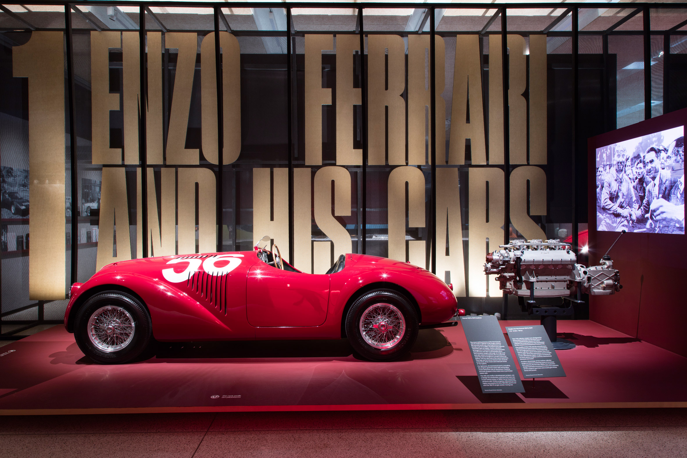 The Show Starts With An Exact Replica Of The First Ferrari Car Ever Made.