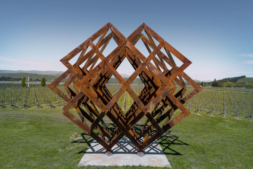 Studio Dror's installation imitates the vineyards of Brancott Estate