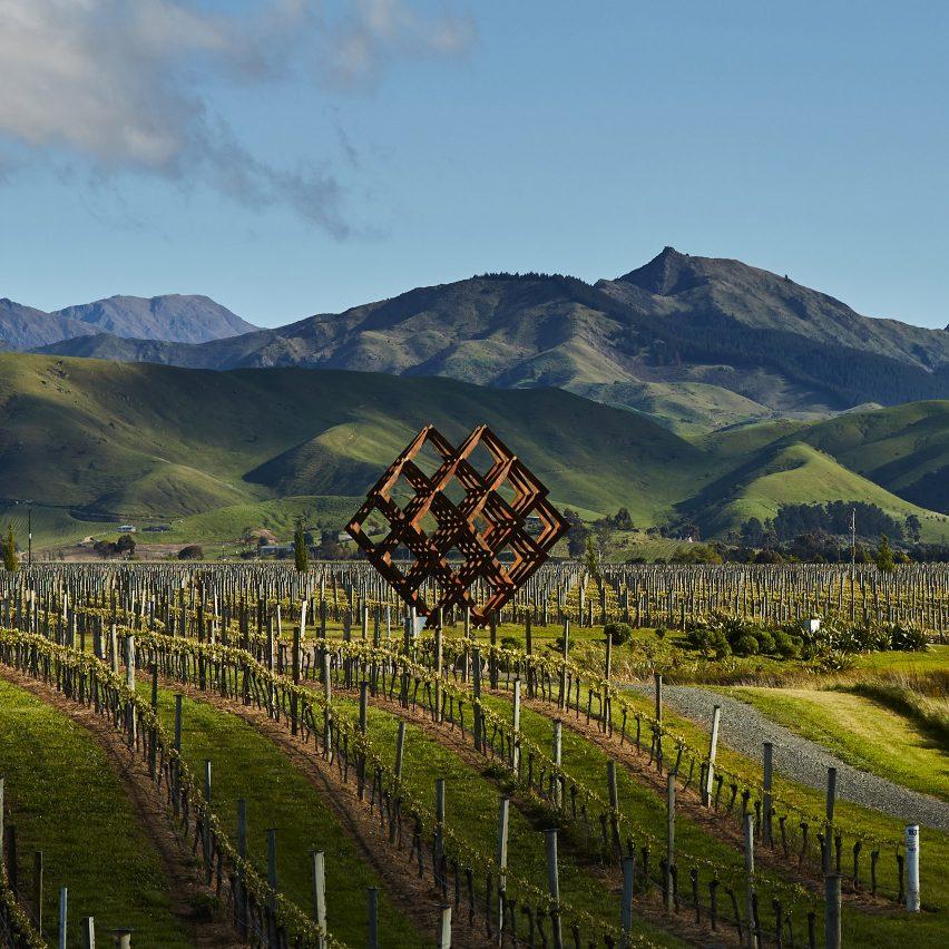 Studio Dror's installation imitates the vineyards of Brancott Estate