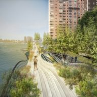 wHY proposes undulating park for cyclists and runners along New York's East River