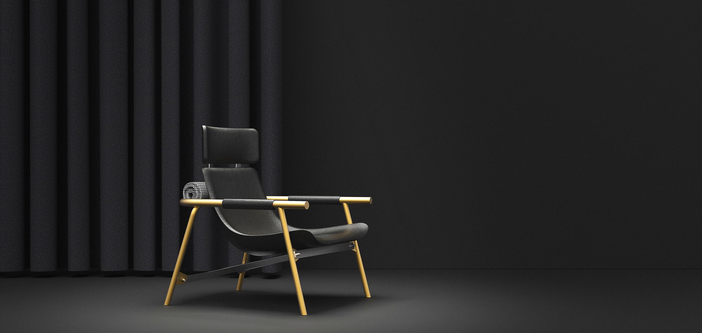 Pleasant Alain Gilles Creates Lounge Chair That References Vintage Pabps2019 Chair Design Images Pabps2019Com