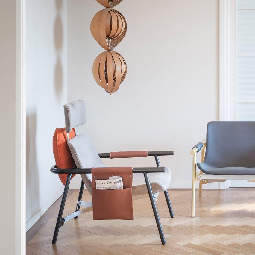 EDDY Lounge chair by Alain Gilles