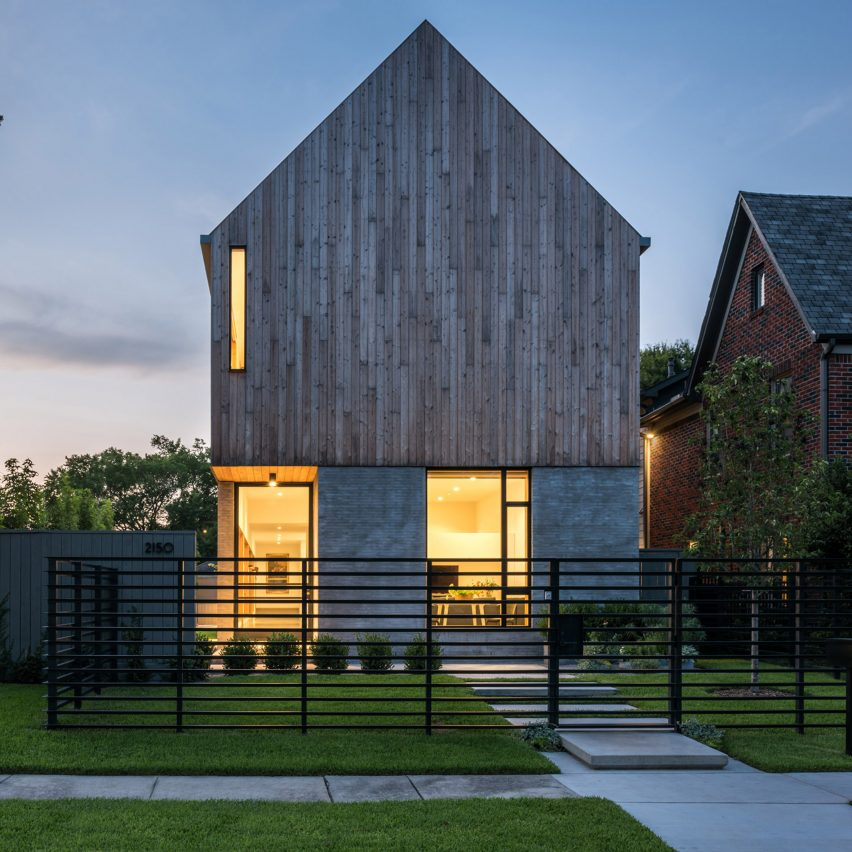 Michael viviano designs gabled house for his parents in for Houston home designs