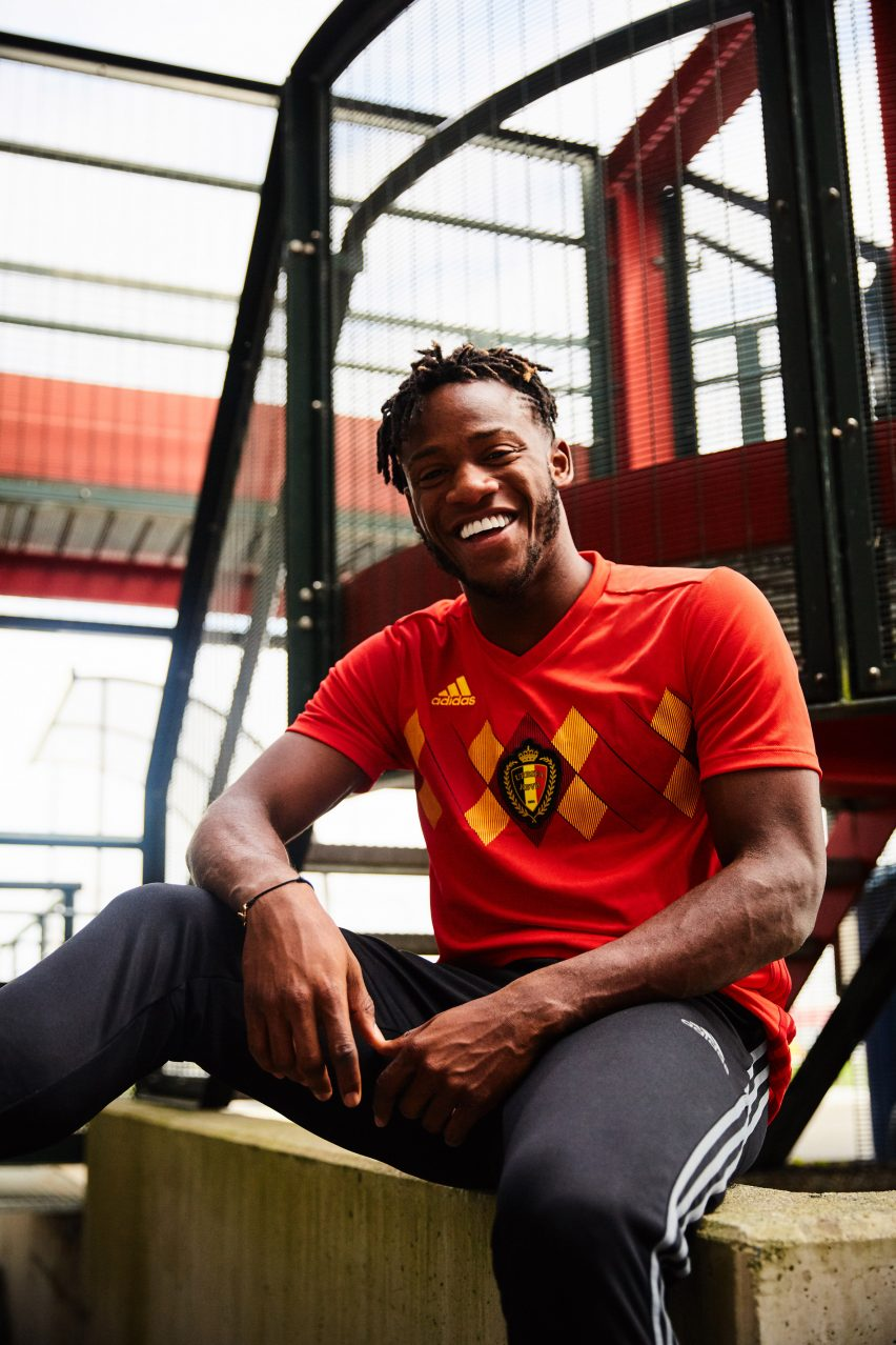 6cc0d513c3f As with Adidas' other World Cup kits for next year, the Belgium home shirt  looks back to the past, with a refreshed take on the black, yellow and red  argyle ...