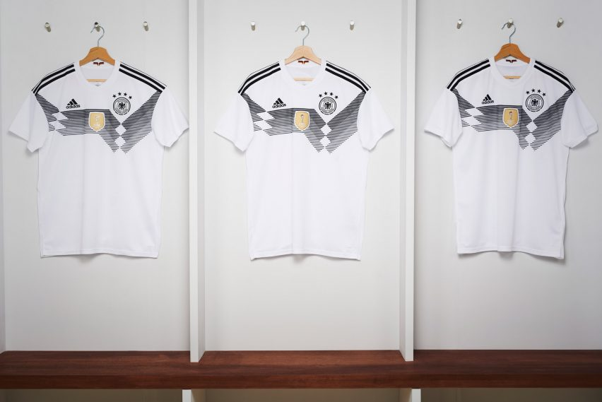 f5d6716e1 The home jersey for title-defending team Germany is a contemporary take on  their shirt from 1990 – the third time they won the trophy