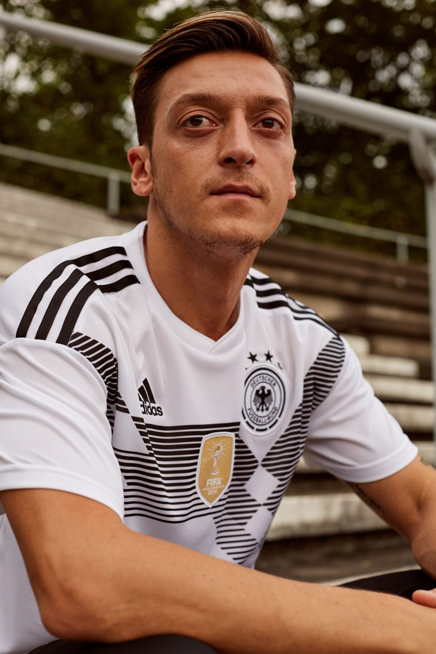 b4016aba9 The home jersey for title-defending team Germany is a contemporary take on  their shirt from 1990 – the third time they won the trophy