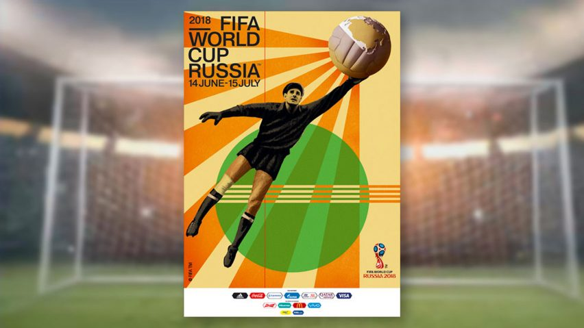 0e185ab84 Igor Gurovich designs retro poster for 2018 FIFA World Cup in Russia
