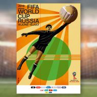 Igor Gurovich designs retro poster for 2018 FIFA World Cup in Russia