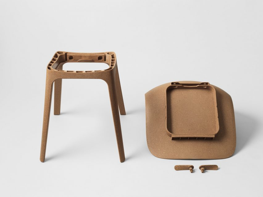 Form Us With Love Uses Recycled Wood And Plastic To Create IKEA Chair