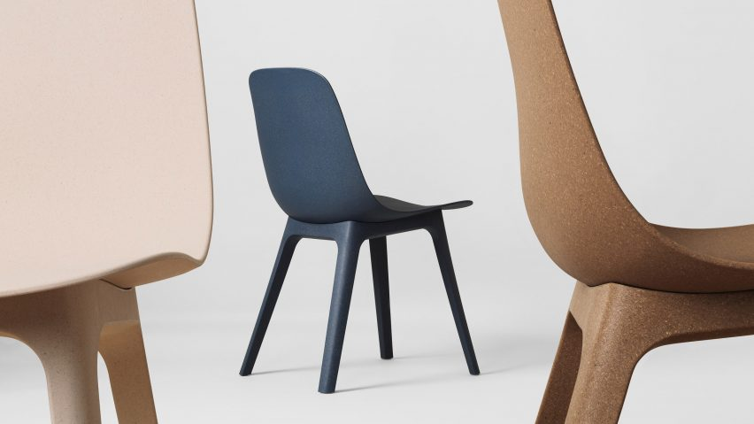 Ikea Plastic Stoel : Form us with love uses recycled wood and plastic to create ikea chair