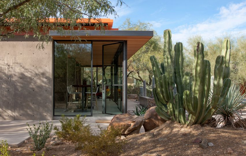 Arizona horse barn transformed into desert guest house