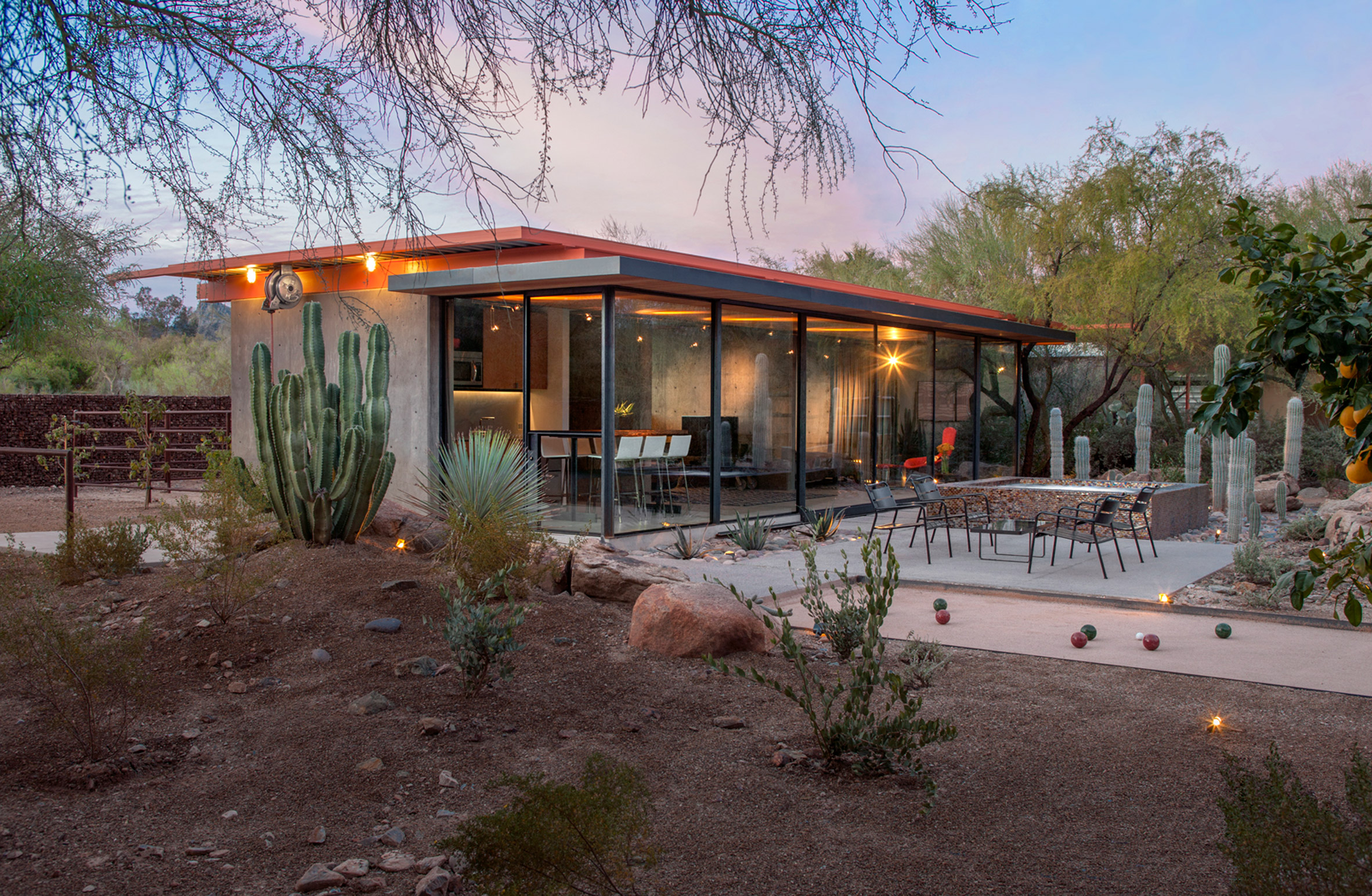 Arizona horse barn transformed into desert guest house by The Construction Zone
