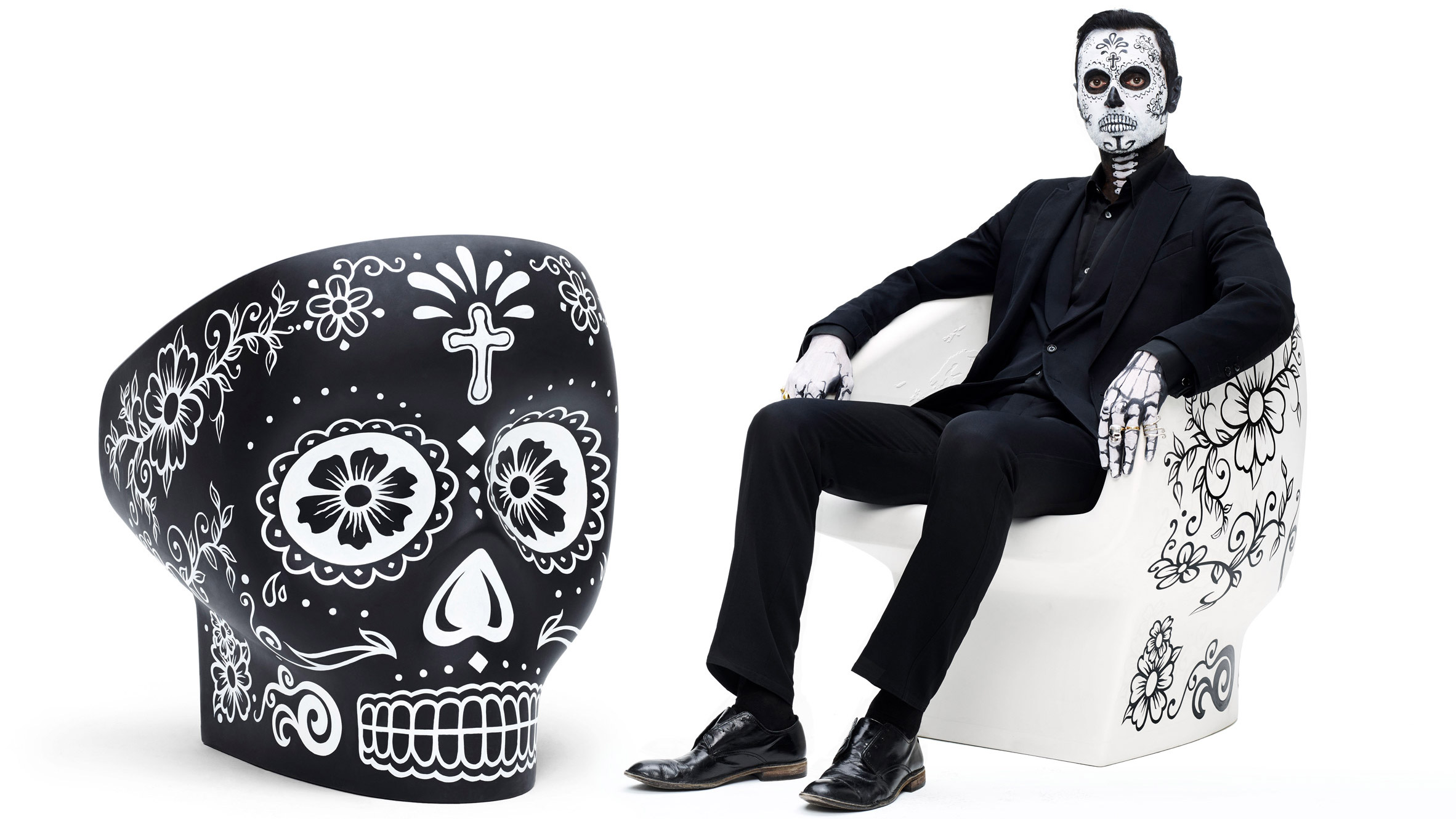 Black skull chair - Black Skull Chair 20