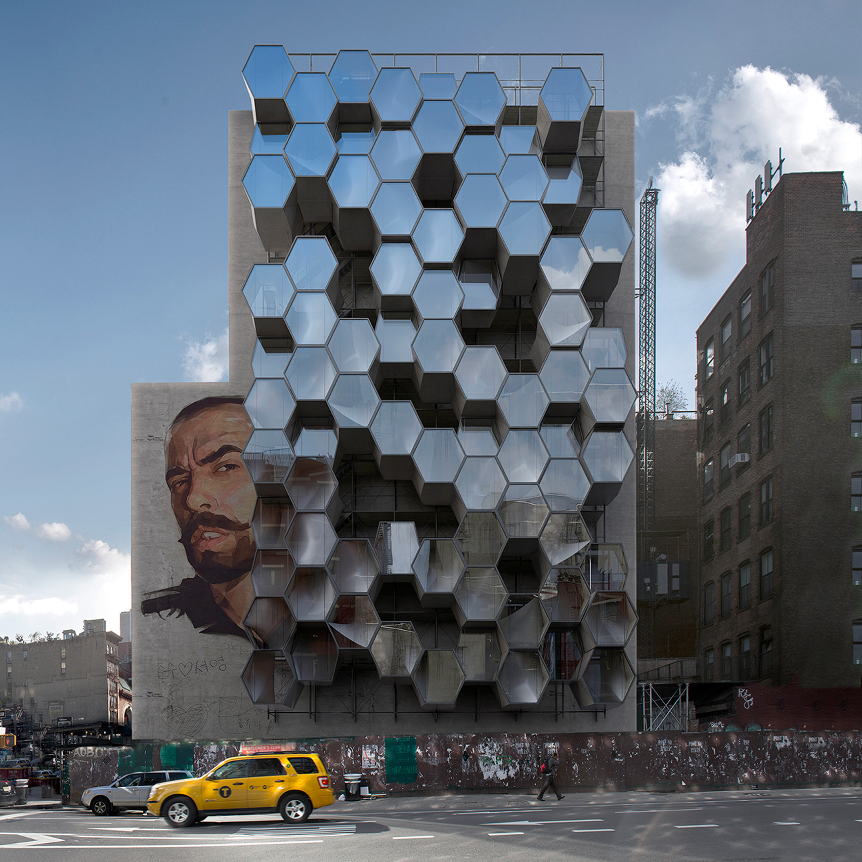 Attirant Framlab Proposes Parasitic Hexagonal Pods To Sleep New Yorku0027s Homeless