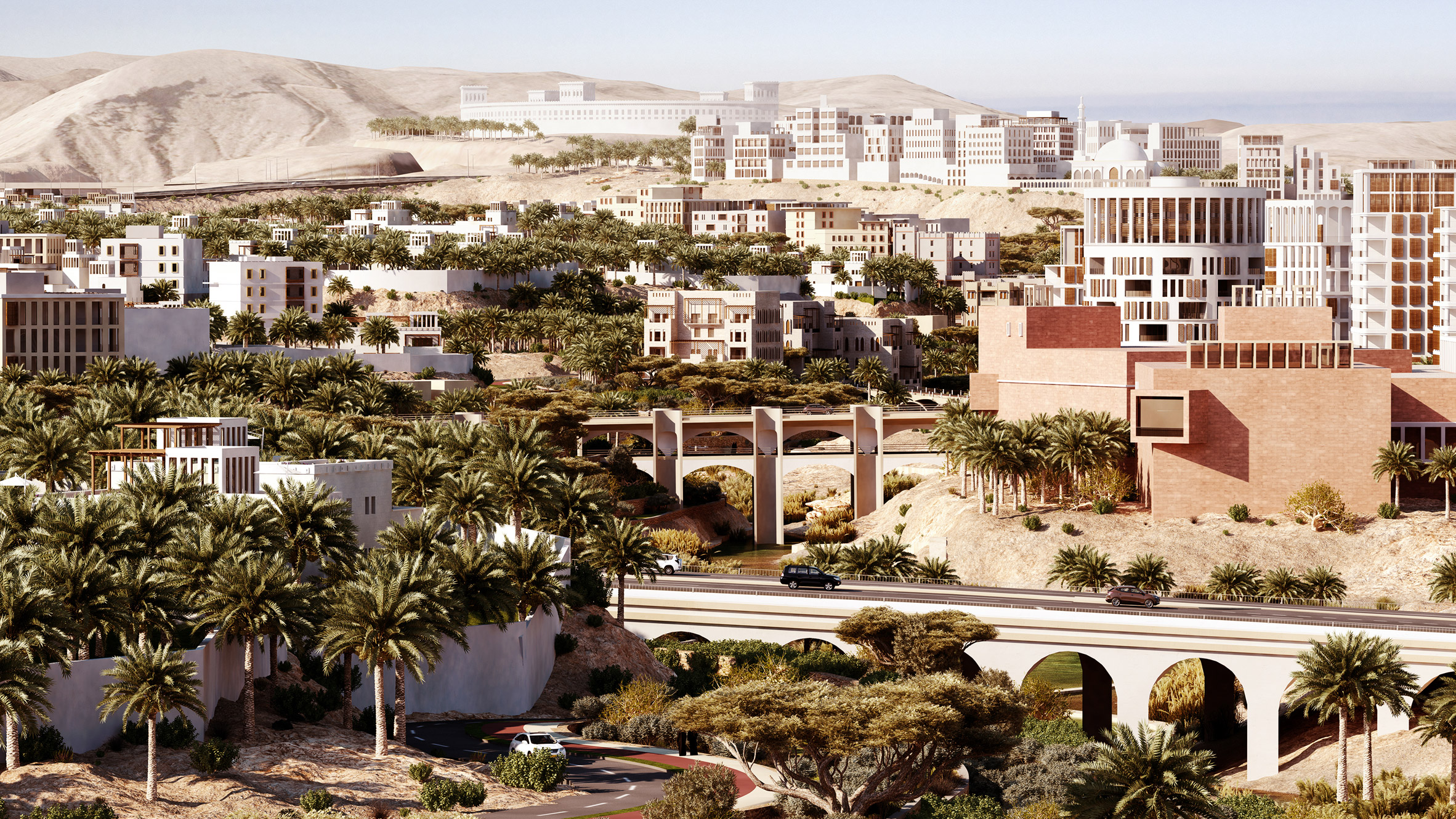 """Allies and Morrison challenges """"identikit urbanism"""" with masterplan for new city in Oman"""