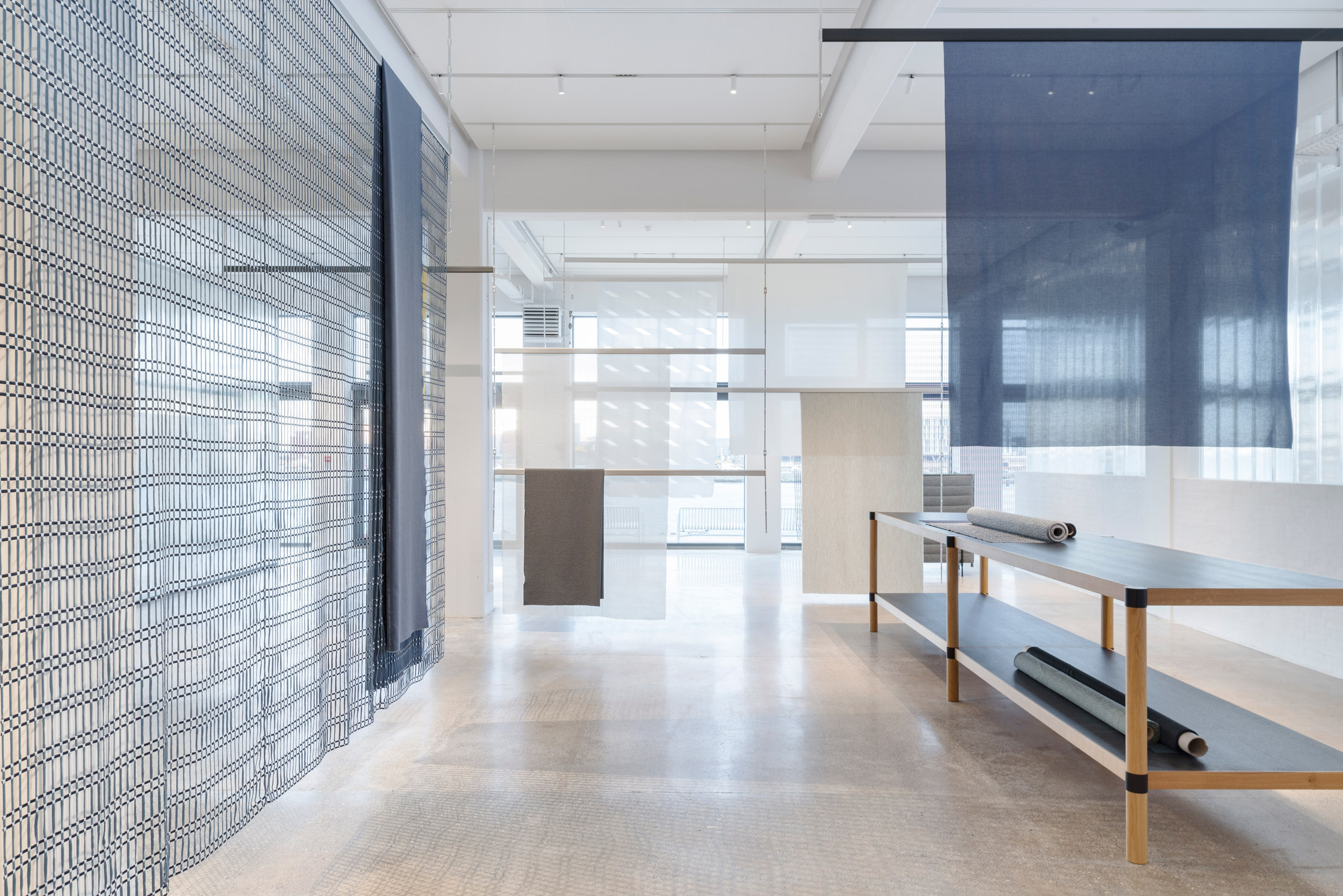 "Bouroullec brothers create Kvadrat showroom with ""no colours, just materials"""