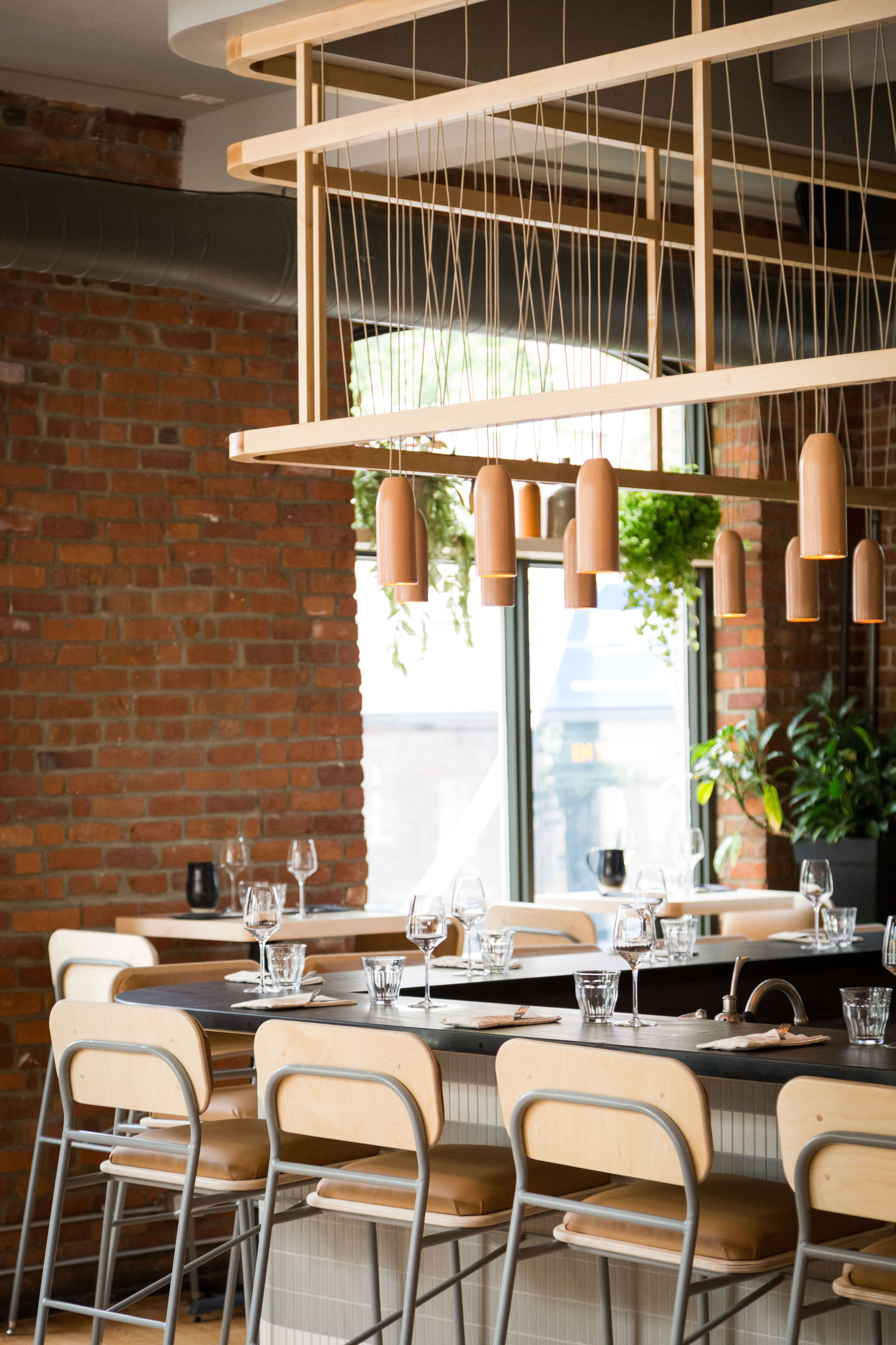Atelier filz designs bespoke lighting and chairs for