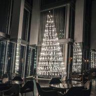 Lee Broom creates Christmas tree from 245 pendant lights inside The Shard