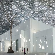 Jean Nouvel's completed Louvre Abu Dhabi is spanned by a huge geometric-patterned dome