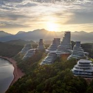 MAD's Huangshan Mountain Village photographed by Hufton + Crow in the dawn light
