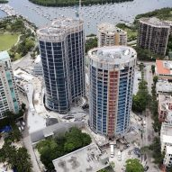OMA's Park Grove towers take shape in Miami
