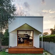 M3 Architecture adds music studio with its own stage to garden of Australian residence