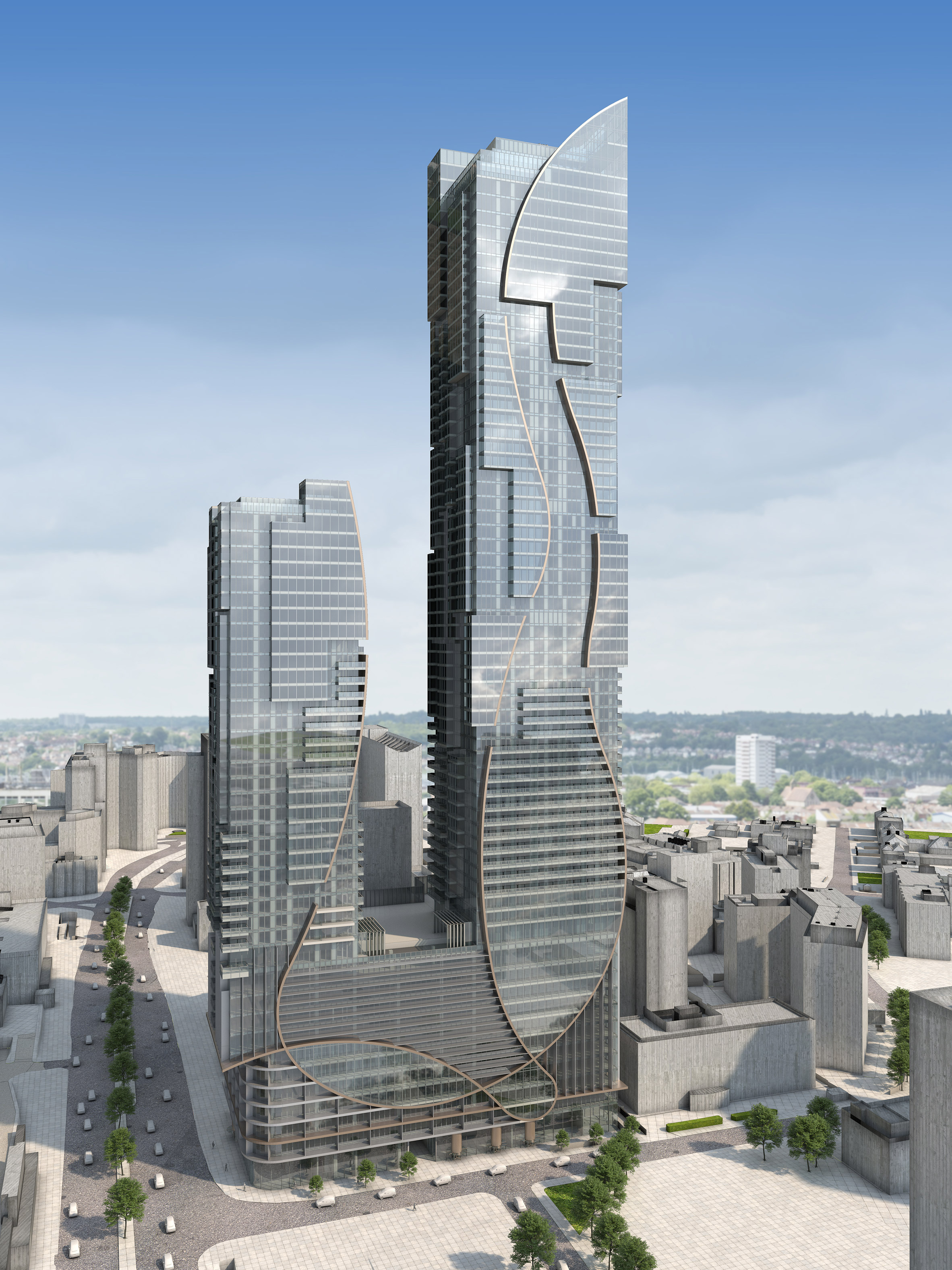 """""""Spectacularly tall"""" skyscraper by CZWG set to be built in Croydon"""
